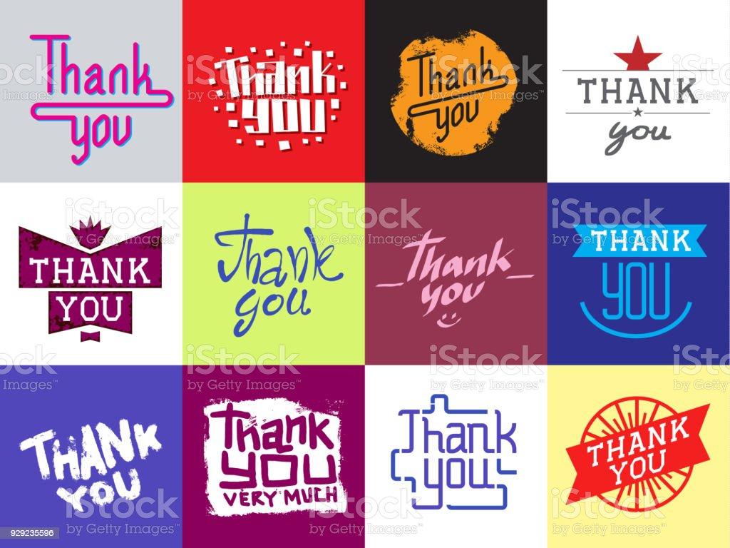 Merci Vecteur Citation Texte Citate Slogan Message Carte