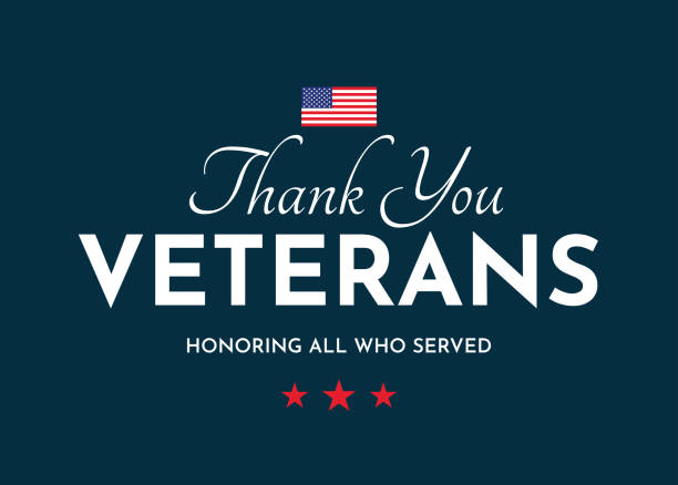 thank you veterans card. veterans day. honoring all who served. vector - veterans day stock illustrations