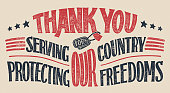 Thank you veterans hand-lettering card
