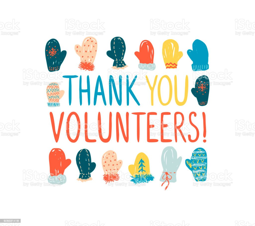 Thank You Volunteers Vector Greeting Card Stock Vector Art More