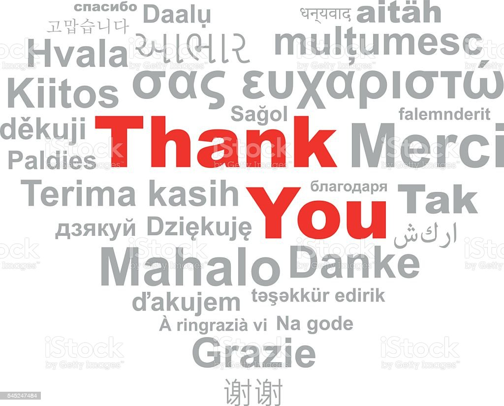 thank you word cloud heart thank youのベクターアート素材や画像を