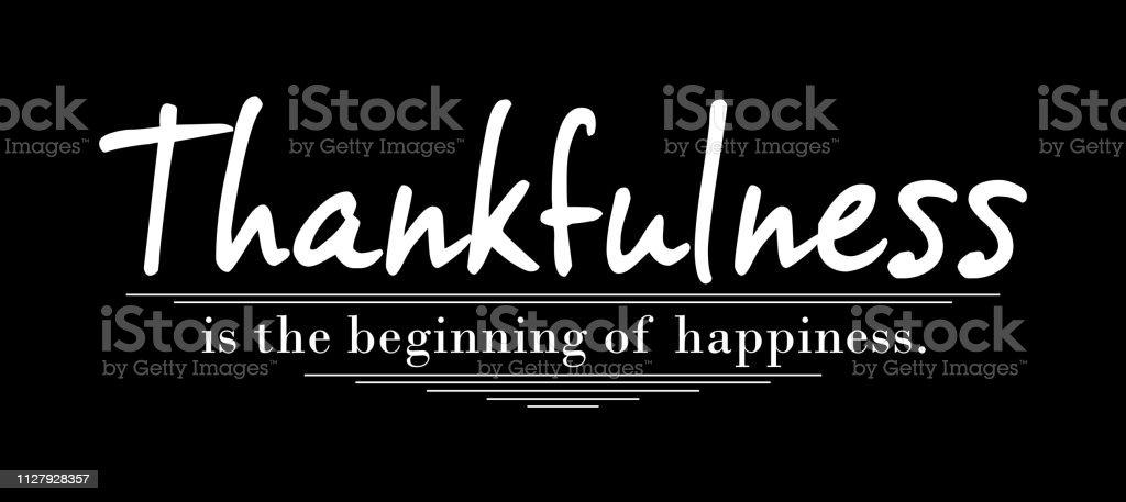 Gratitude Typographie Design Concept Citation De Motivation