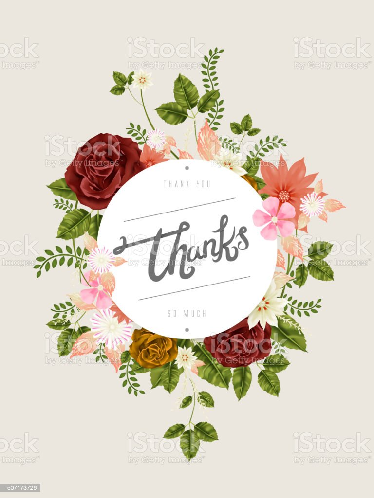 Thanks calligraphy design stock vector art more images