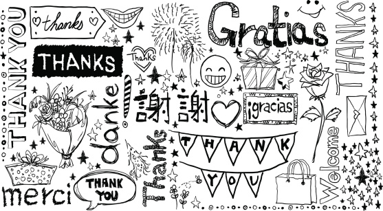 Thanks you words in different languages