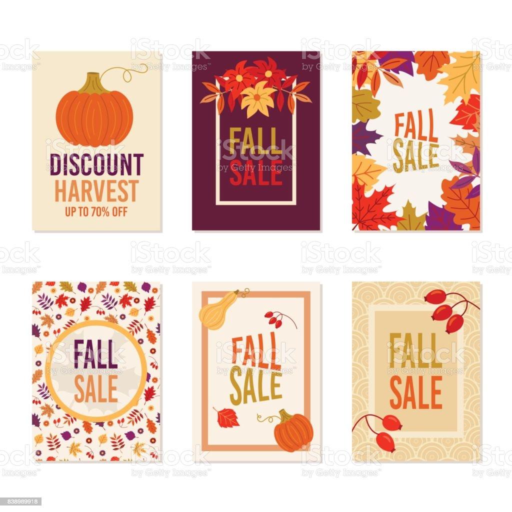 Thanksgiving Herbst Herbst Sale Banner Flyer Karte Plakat Urlaub ...