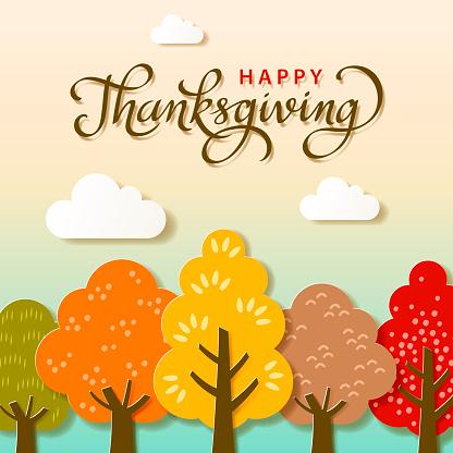 Thanksgiving Autumn Trees