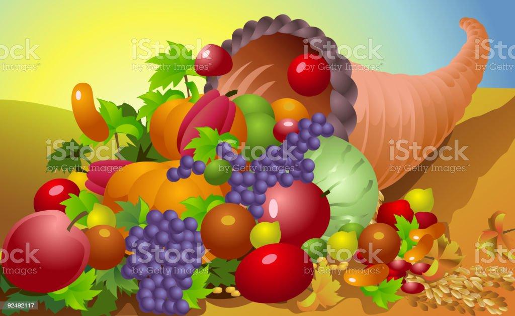 Thanksgiving Background, Cornucopia royalty-free thanksgiving background cornucopia stock vector art & more images of apple - fruit
