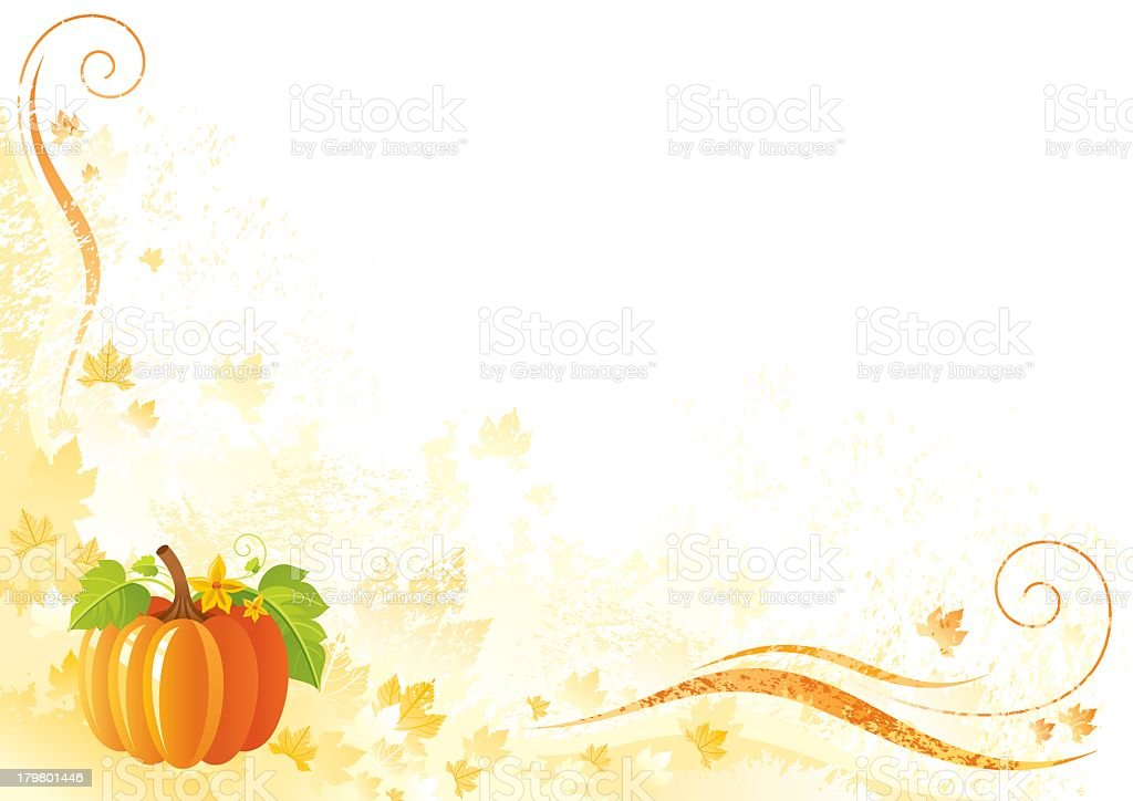 Thanksgiving background: pumpkin royalty-free thanksgiving background pumpkin stock vector art & more images of abstract
