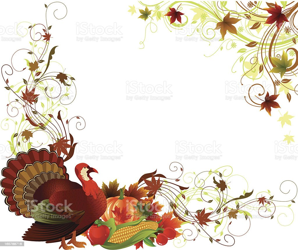 Thanksgiving Background royalty-free stock vector art