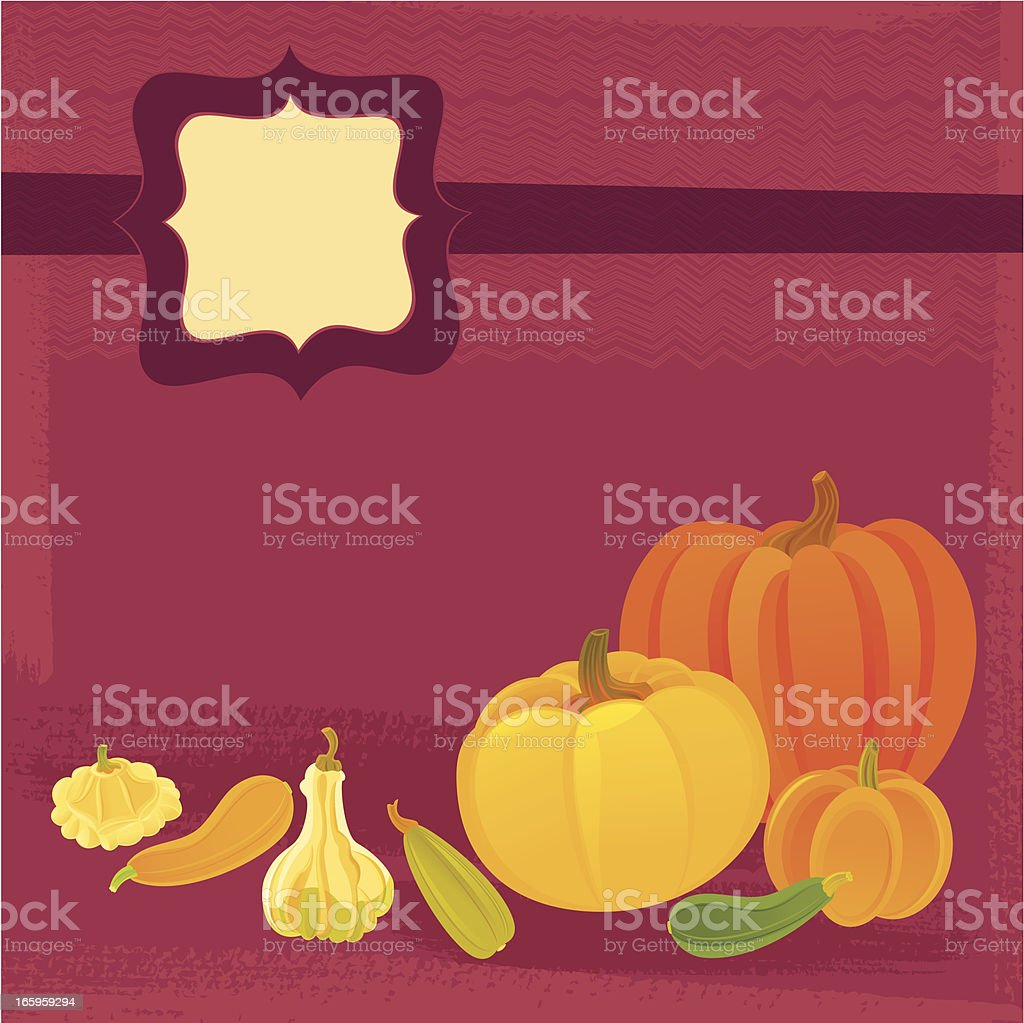 Thanksgiving Background with Pumpkins royalty-free stock vector art