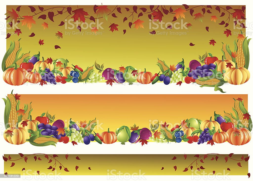 Thanksgiving Banner royalty-free thanksgiving banner stock vector art & more images of abstract