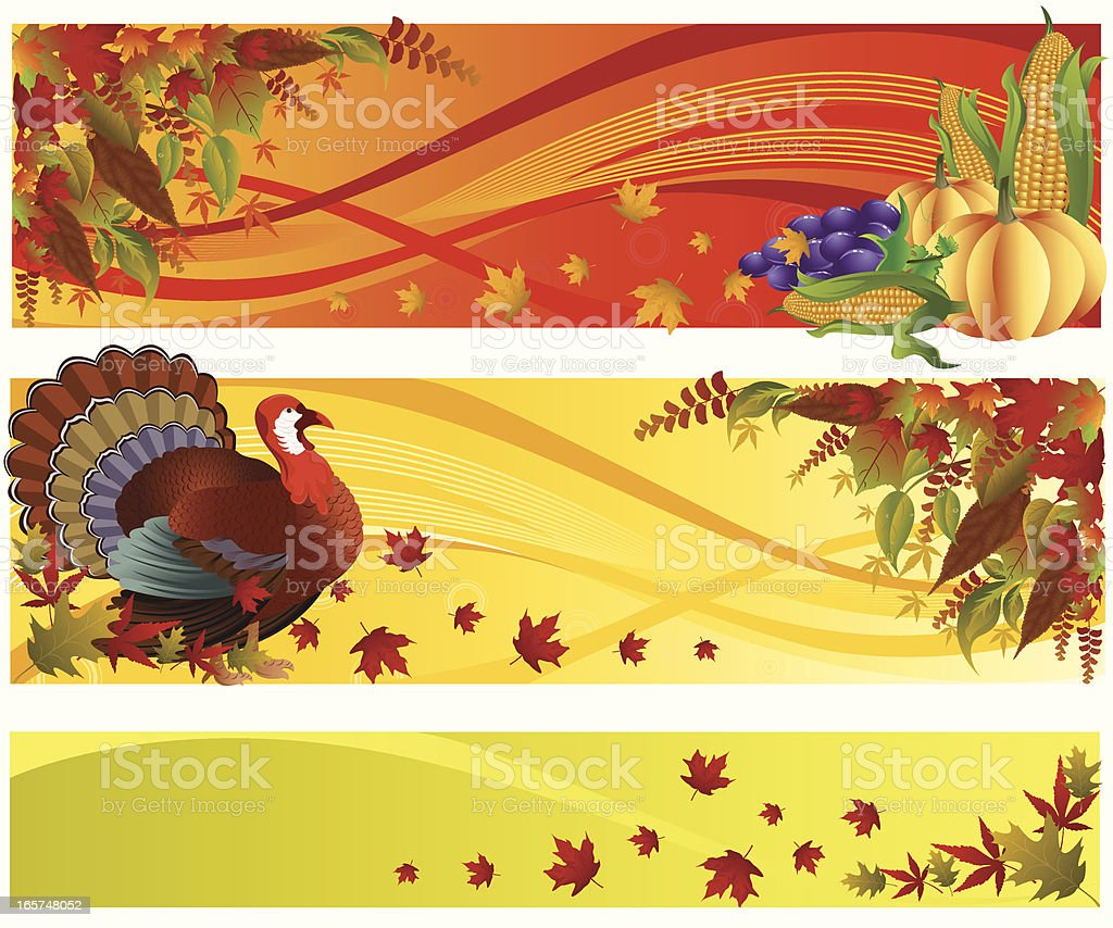 Thanksgiving Banner royalty-free thanksgiving banner stock vector art & more images of angle