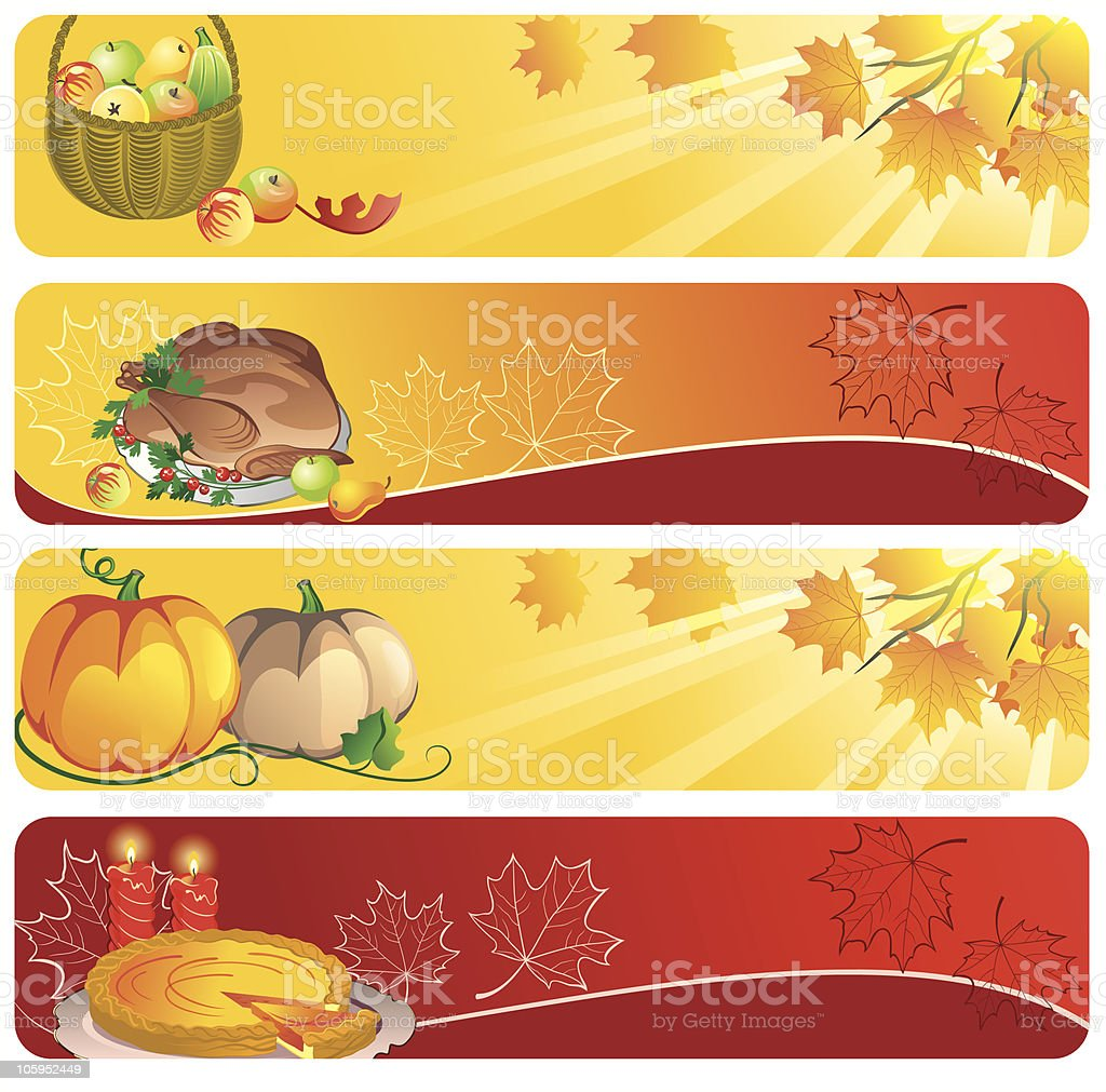 Thanksgiving banners royalty-free stock vector art