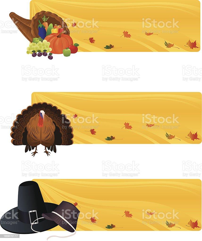 Thanksgiving Banners vector art illustration