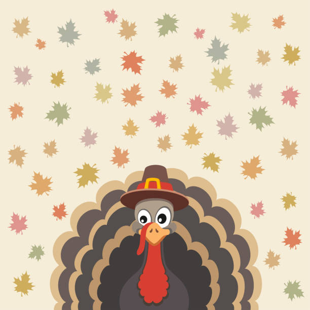 thanksgiving card design - thanksgiving turkey stock illustrations