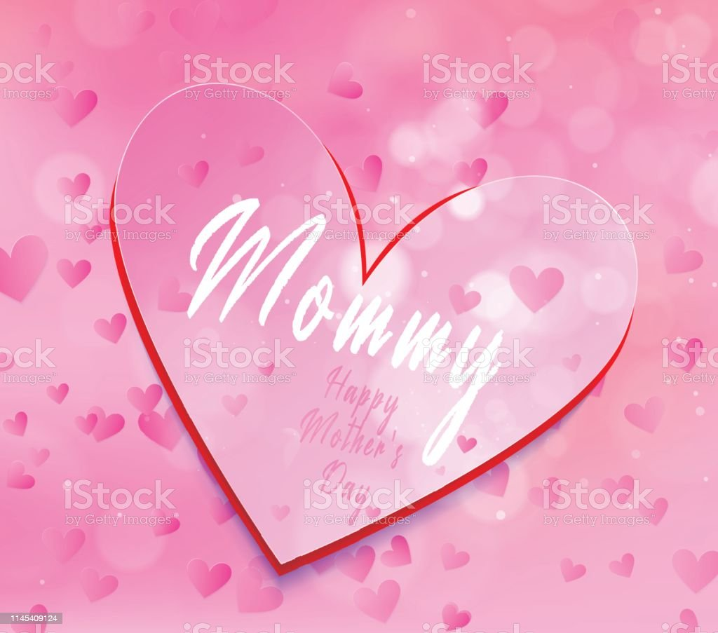 Thanksgiving card, happy mother\'s day layout design with love shape....