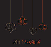 Thanksgiving card, minimal concept. Vector illustration. EPS10