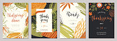Thanksgiving greeting cards and invitations.
