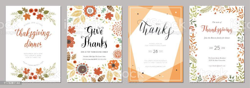 Thanksgiving Cards 06 - Grafika wektorowa royalty-free (Baner)