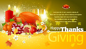Thanksgiving Celebrations Background. Each element in a separate layers. Very easy to edit vector EPS10 file. It has transparency layers with blend effects.