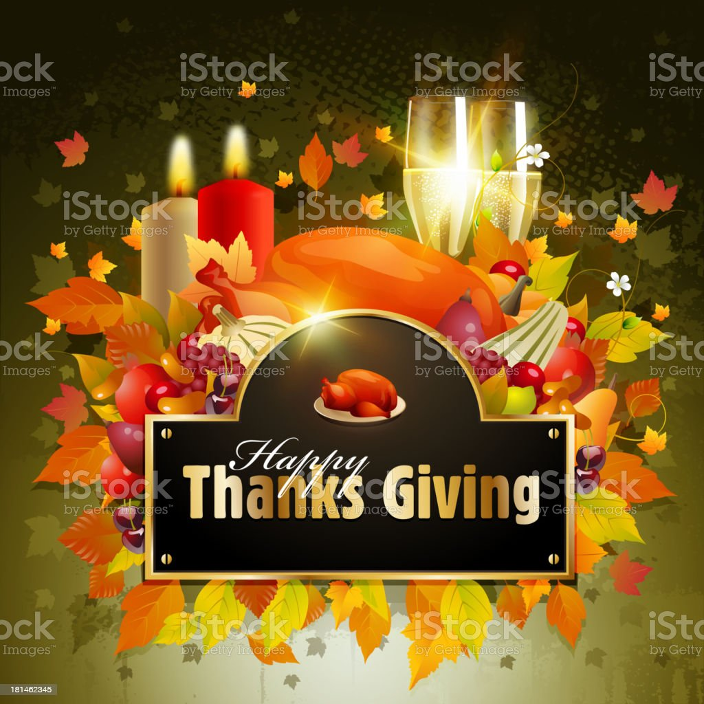 Thanksgiving Celebrations Background royalty-free stock vector art
