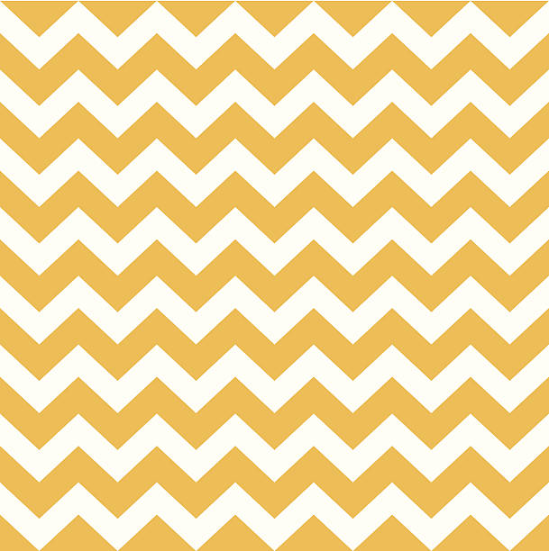 Thanksgiving Chevron pattern - yellow and white Thanksgiving seamless Chevron pattern. Vector background. zigzag stock illustrations
