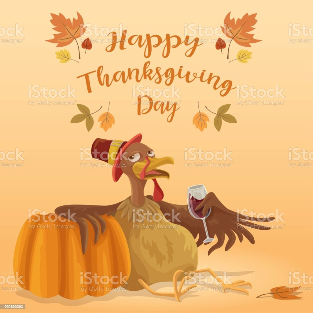 Thanksgiving Chill vector art illustration