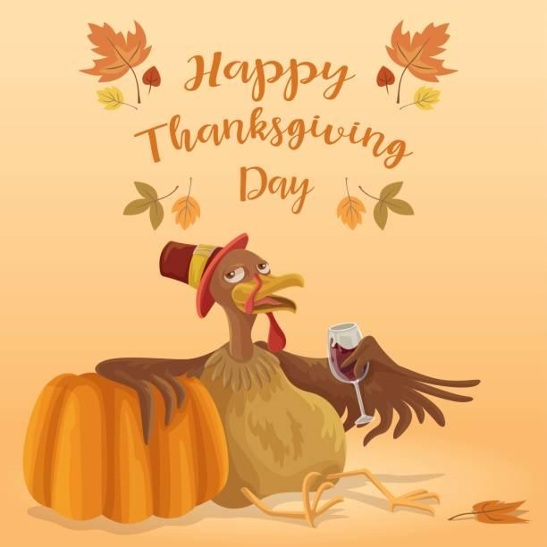 Thanksgiving Chill vector art illustration