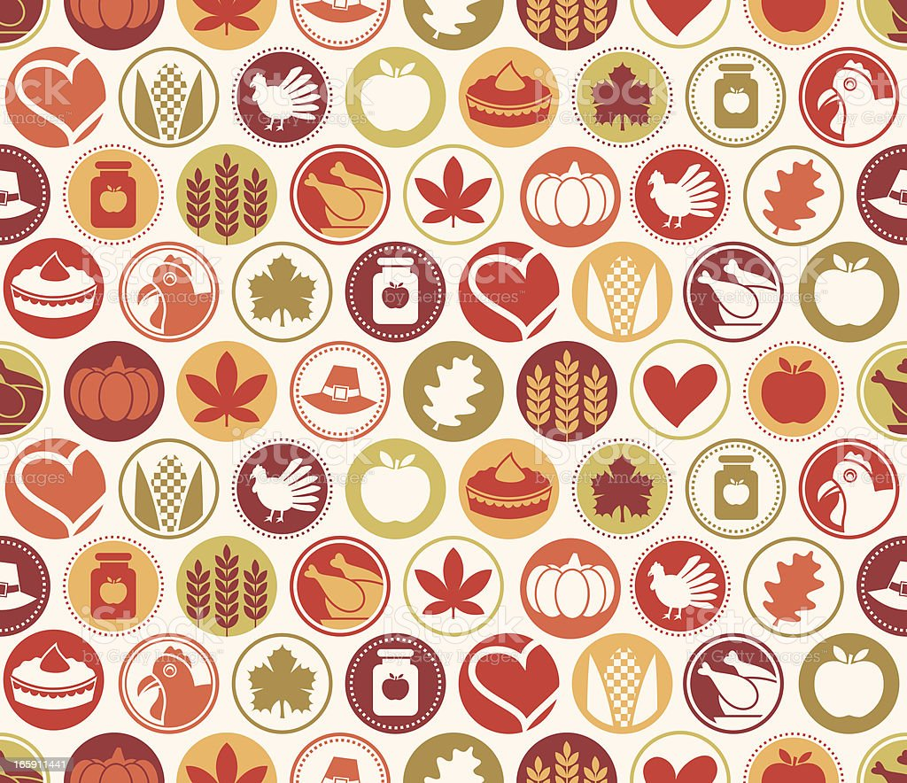 Thanksgiving Circles Seamless Pattern royalty-free thanksgiving circles seamless pattern stock vector art & more images of apple - fruit