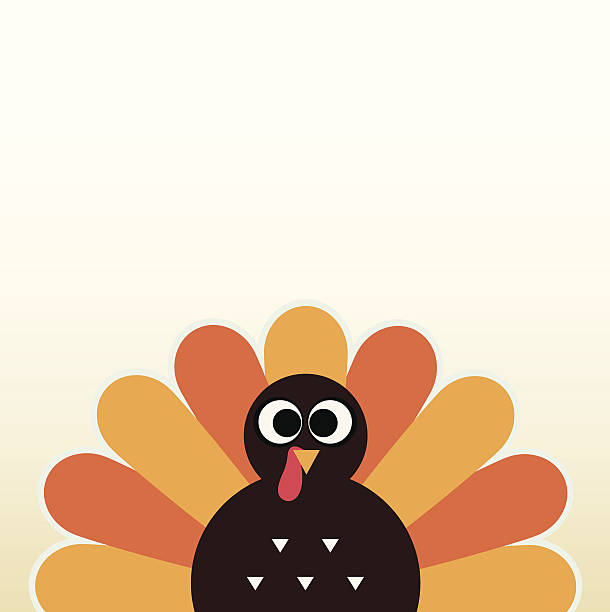 Thanksgiving colorful Turkey greeting with copyspace Happy Thanksgiving day card with copyspace. Vector Illustration. turkey stock illustrations