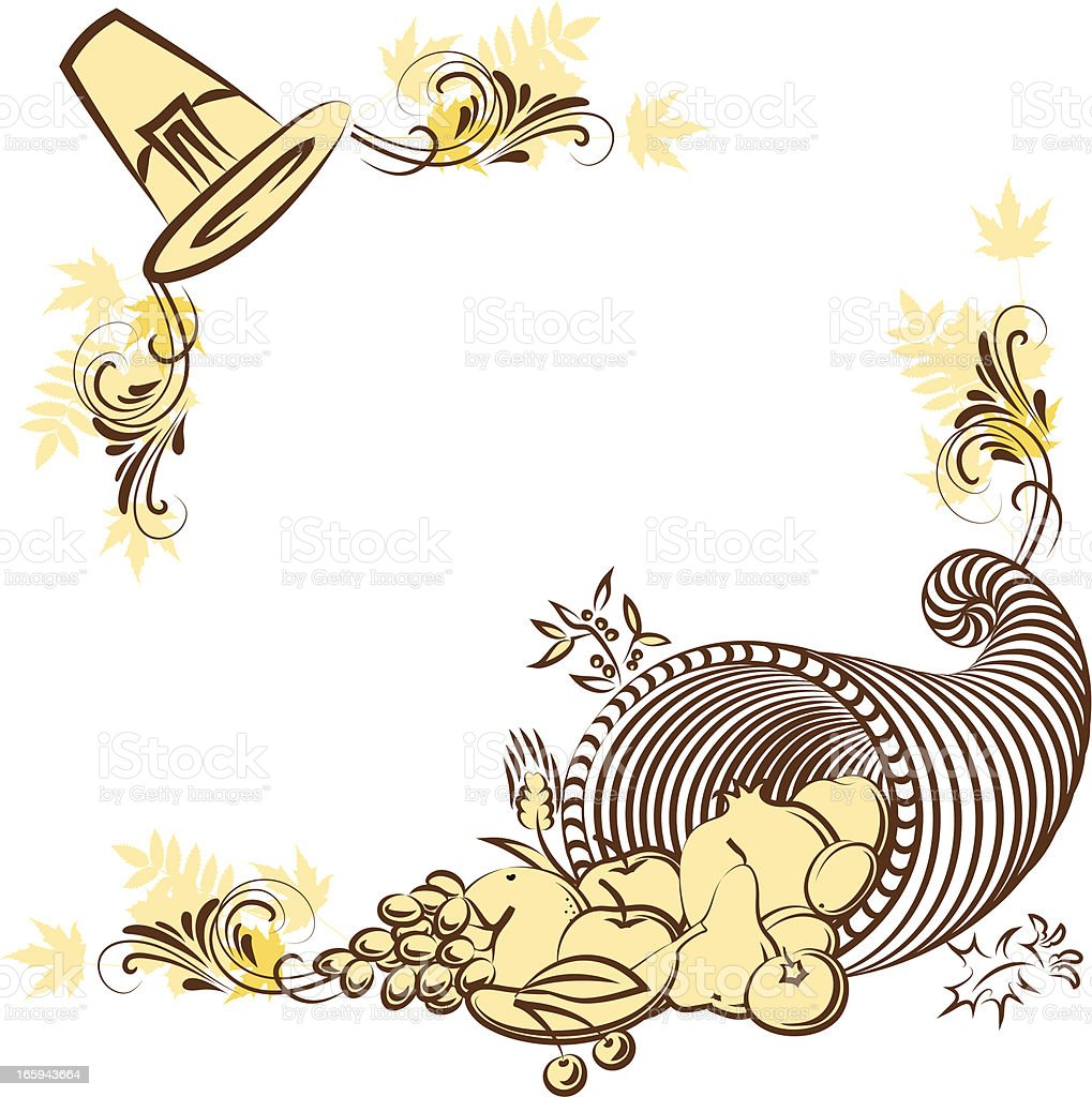 Thanksgiving corners vector art illustration