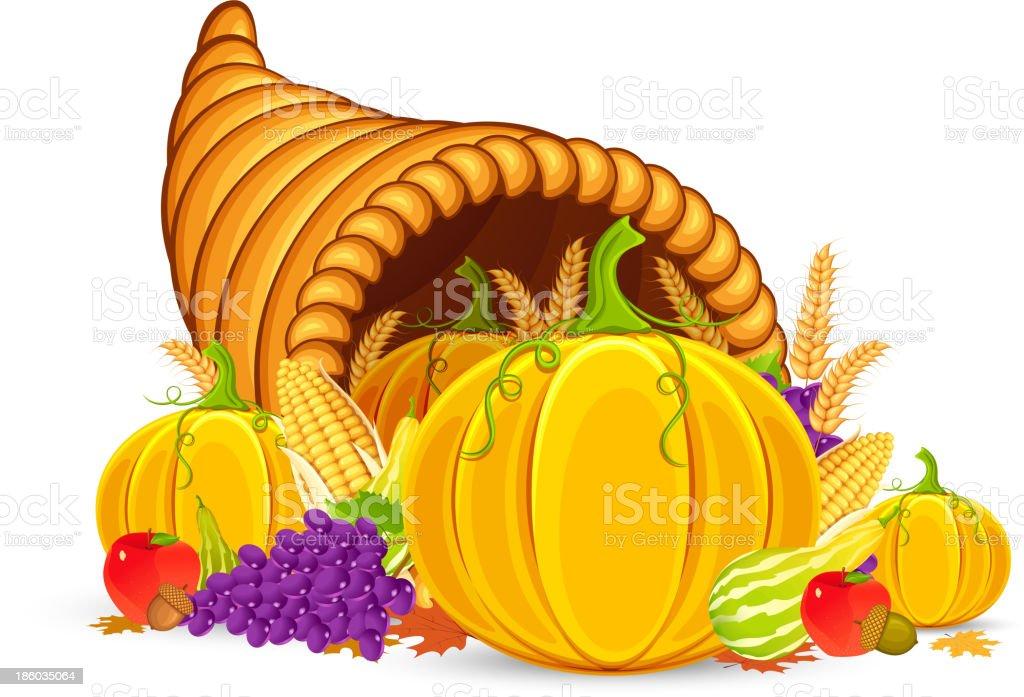 Thanksgiving Cornucopia royalty-free stock vector art