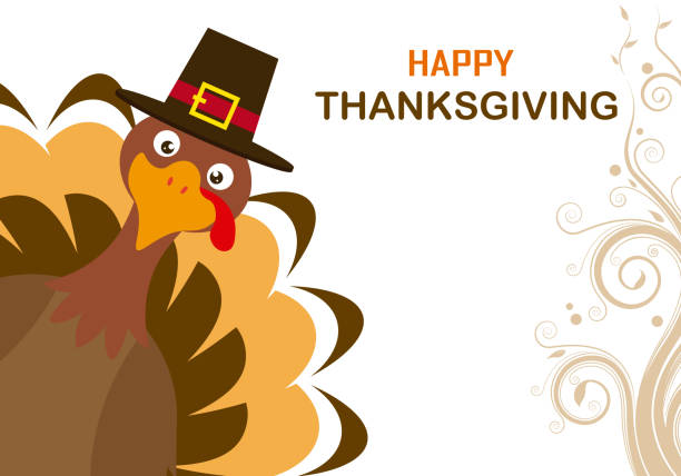thanksgiving day card - thanksgiving stock illustrations