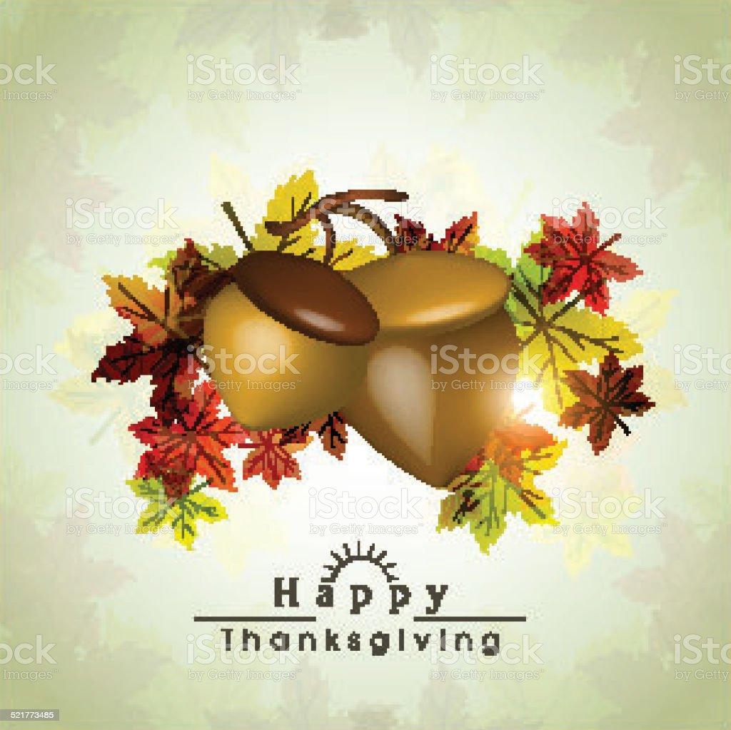 święto Dziękczynienia świętowanie Z żołędzie Owoce I Liść Klonu
