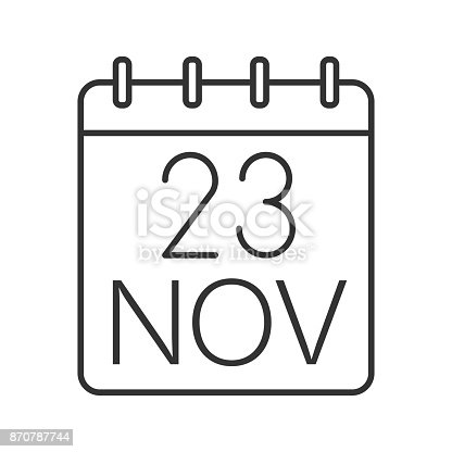 istock Thanksgiving Day date icon 870787744