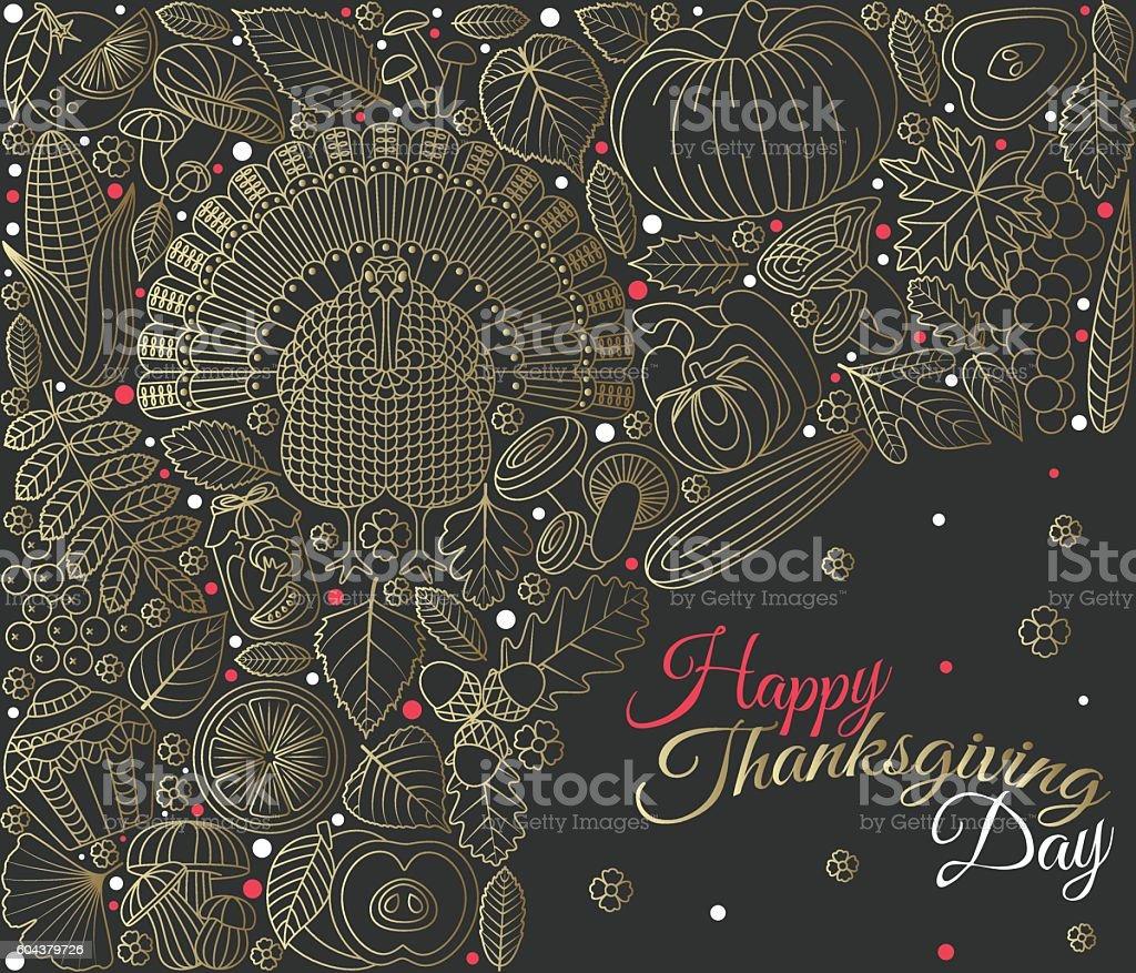 Thanksgiving day greeting card various elements for design stock thanksgiving day greeting card various elements for design royalty free thanksgiving day greeting card kristyandbryce Gallery