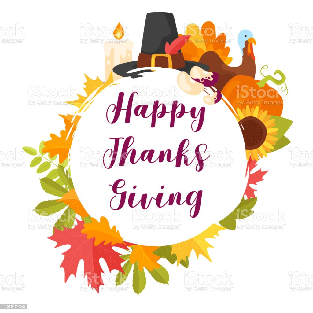 Thanksgiving Day Greeting Card Stock Vector Art More Images Of
