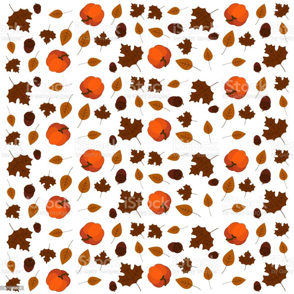 Thanksgiving Day Pattern Wallpaper Stock Illustration
