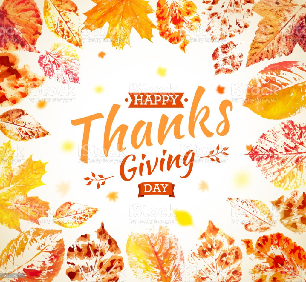 Thanksgiving day poster design autumn greeting card fall colorful thanksgiving day poster design autumn greeting card fall colorful leaves painted in watercolor with m4hsunfo