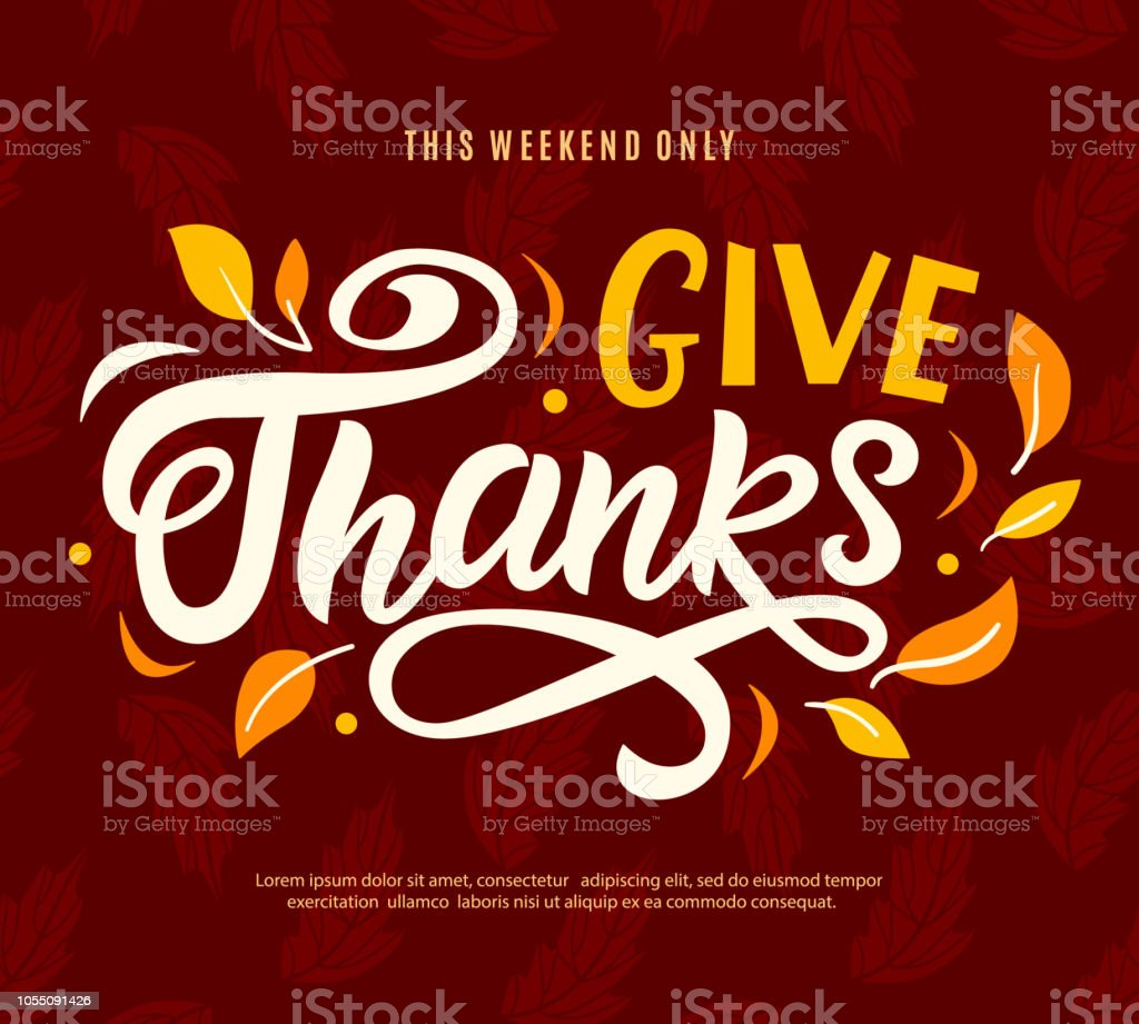 Thanksgiving Day Sale Web Banner Template Give Thanks Promo Offer Stock Illustration Download Image Now Istock