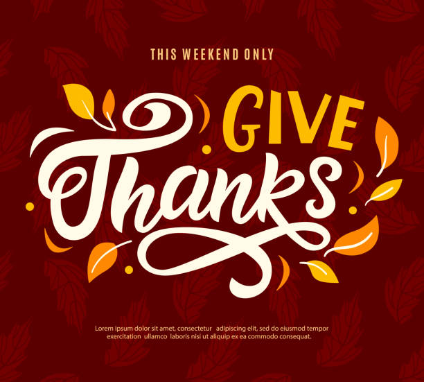 thanksgiving day sale web banner template. give thanks promo offer - thanksgiving stock illustrations