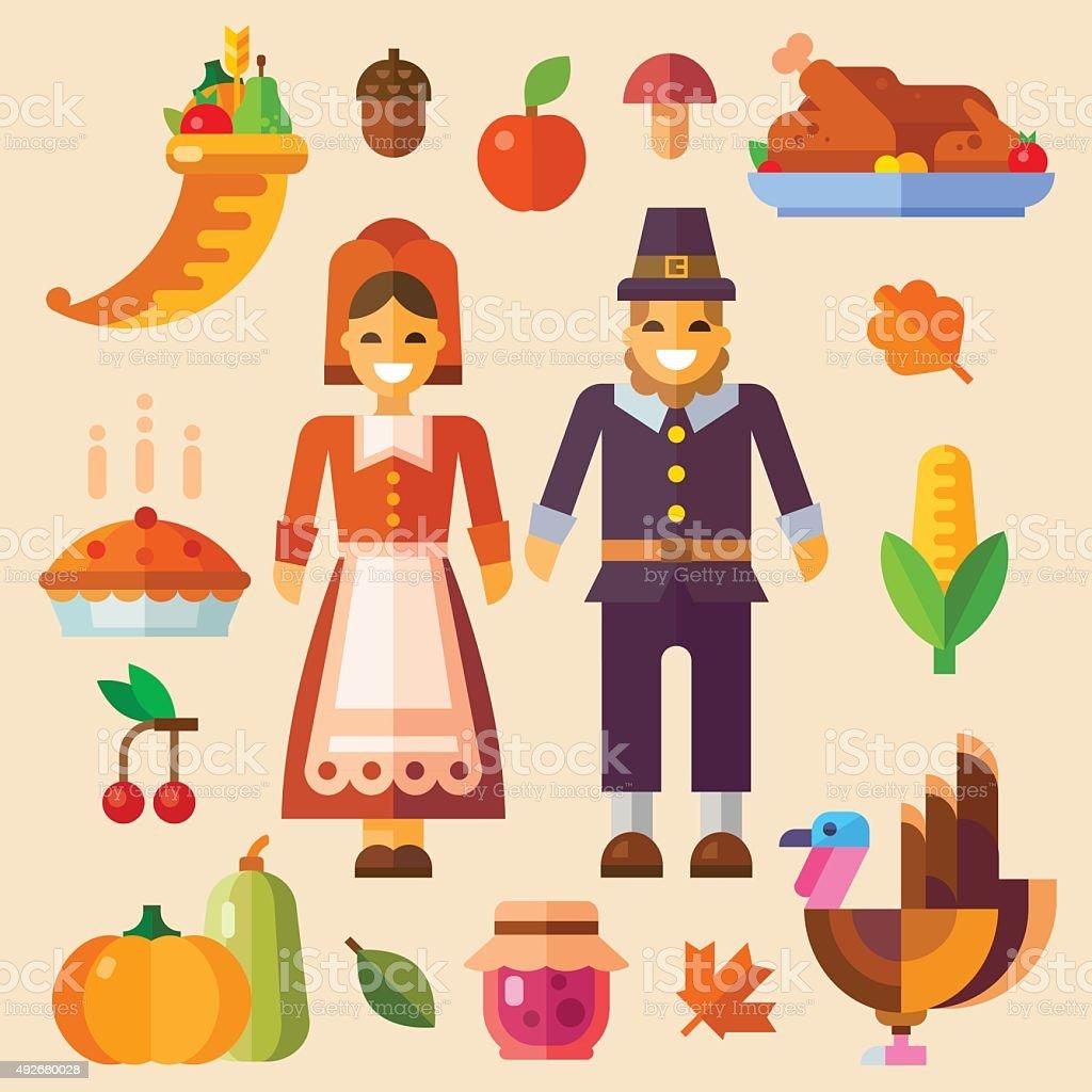 Thanksgiving day! vector art illustration