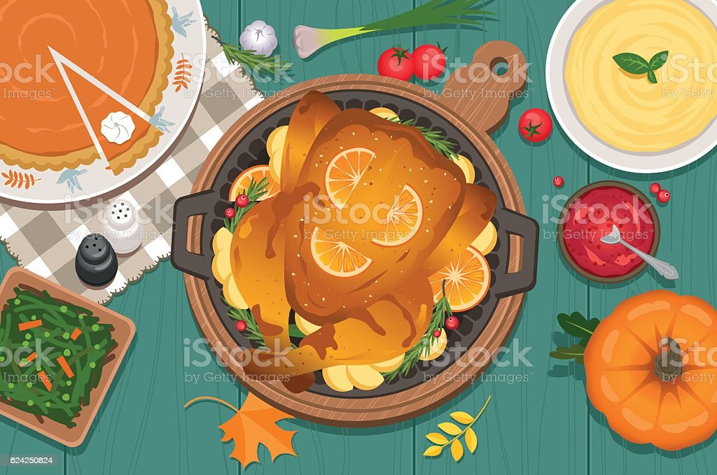 Thanksgiving day vector art illustration