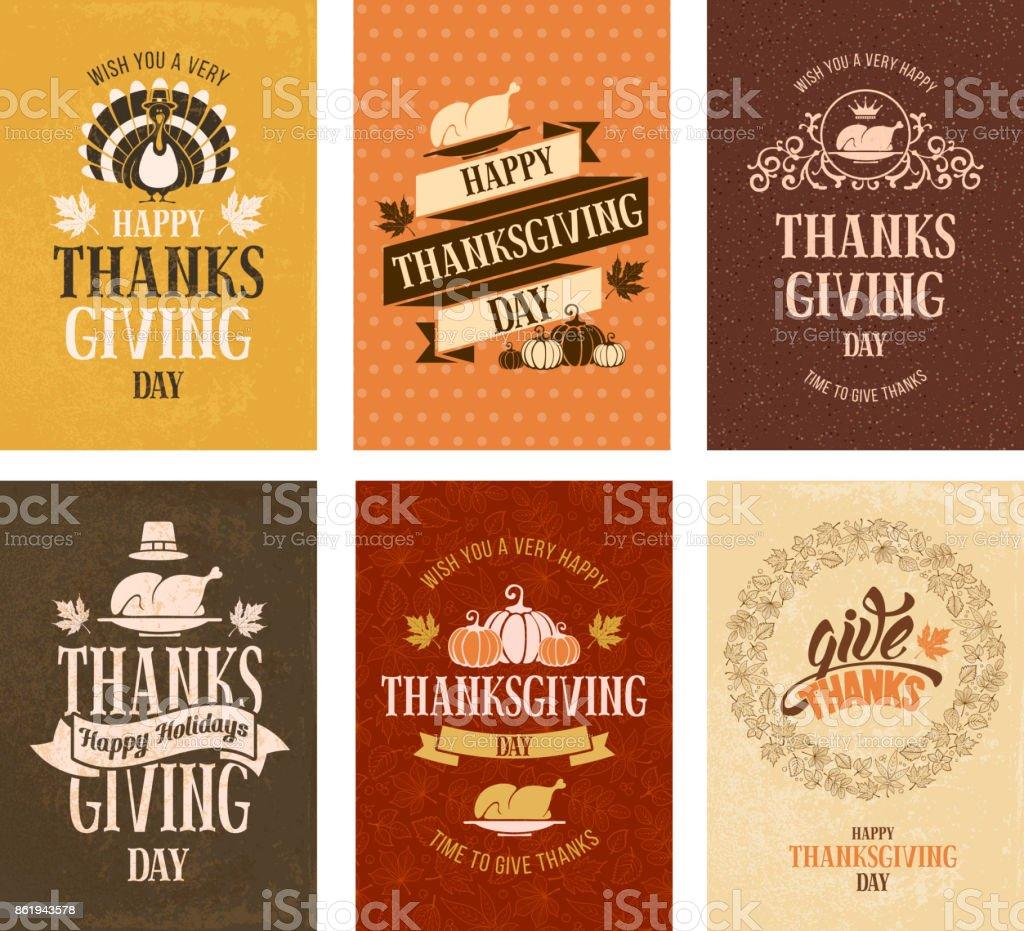 Thanksgiving day vector art illustration