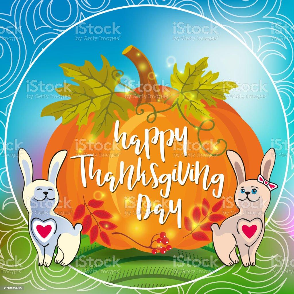 Thanksgiving Day_16 vector art illustration