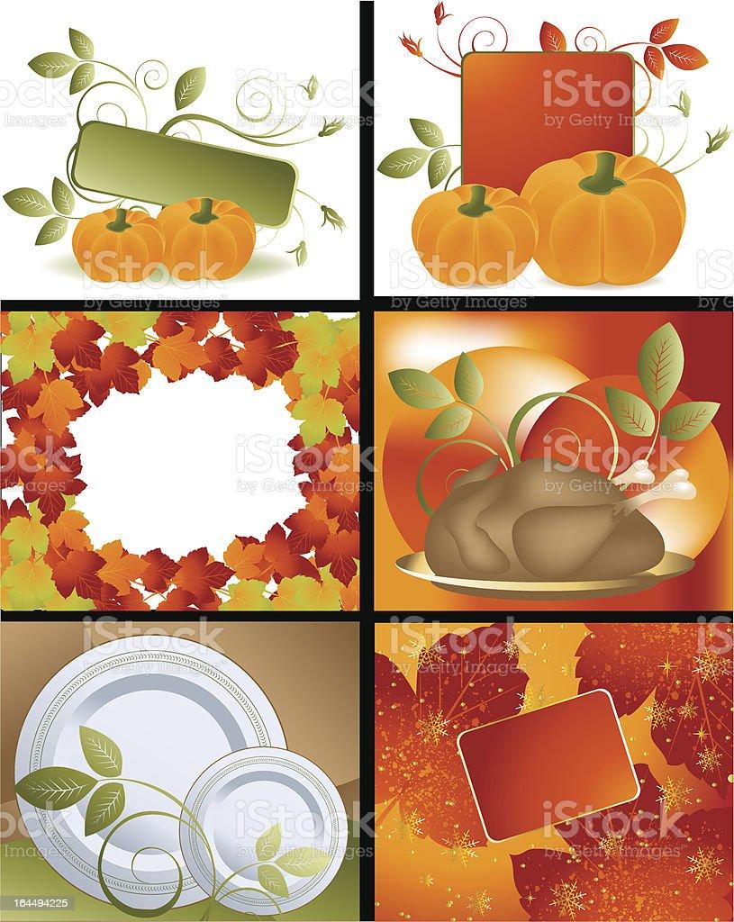 Thanksgiving Designs royalty-free stock vector art