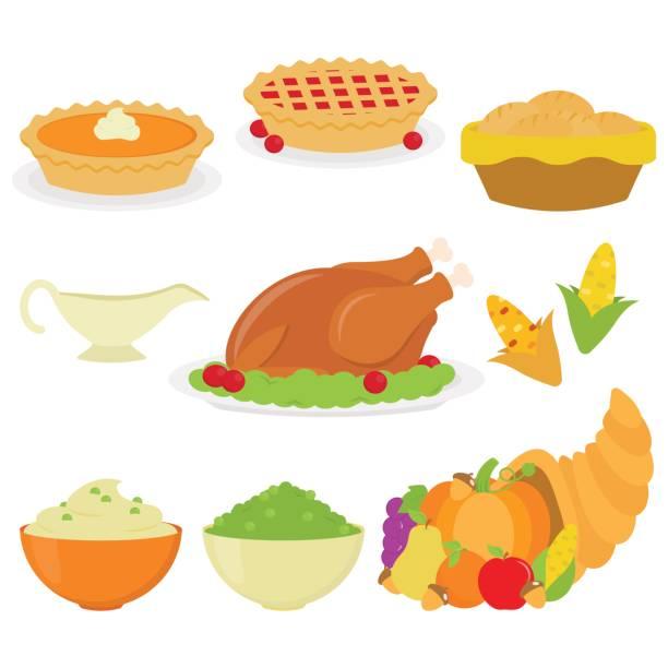 在白色背景的感恩節大餐 - pumpkin pie 幅插畫檔、美工圖案、卡通及圖標