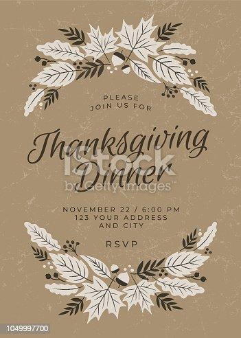 istock Thanksgiving Dinner Invitation Template 1049997700