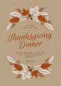 istock Thanksgiving Dinner Invitation Template. 1175448229