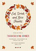 istock Thanksgiving Dinner Invitation Template. 1179974006